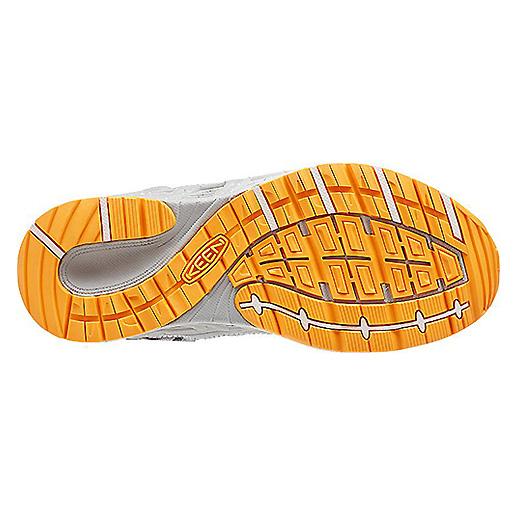 Women's Keen Versatrail Shoe   Neutral Gray Saffron   Bottom View