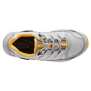 Women's Keen Versatrail Shoe | Neutral Gray Saffron | Top View
