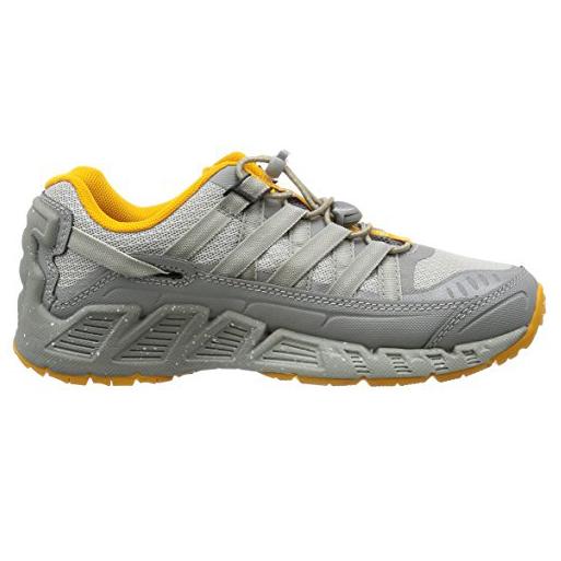 Women's Keen Versatrail Shoe | Neutral Gray Saffron | Side View
