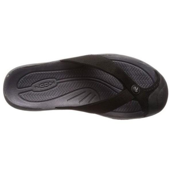 Men's Keen Waimea H2 Flip Flop | Black Steel Grey | Top View