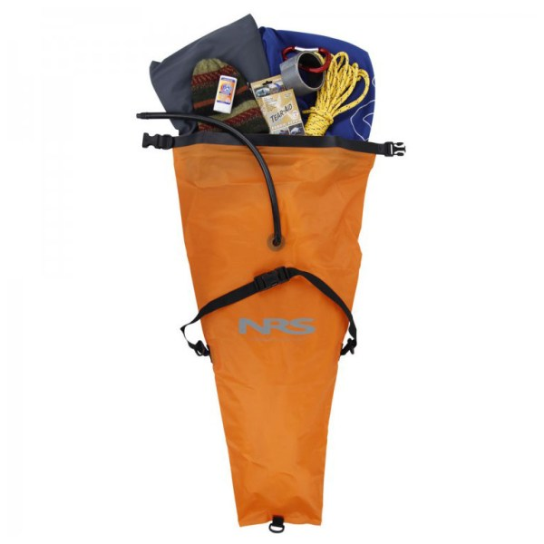 NRS Hydrolock Kayak Stow Float Bags | Orange | Open View