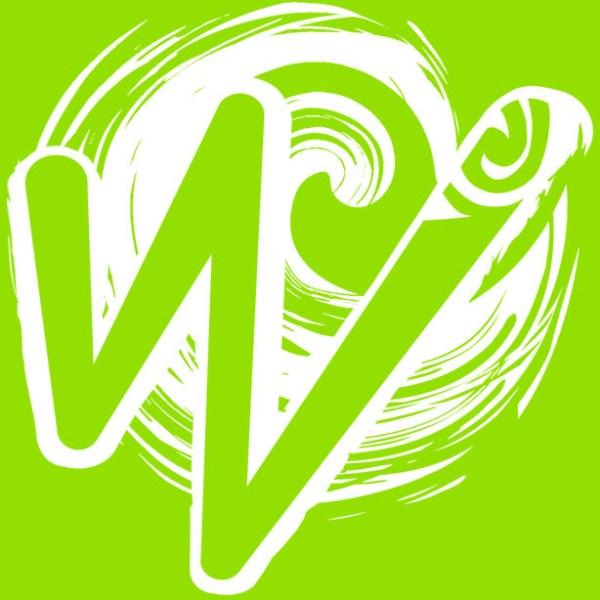 White Waka Splash Emblem   Green Background