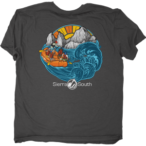 Inkwaterline Sierra South Rafting Shirt Collaboration | Heather Charcoal | Back