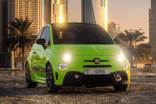 Rent Fiat Abarth 595 Convertible Green in Dubai
