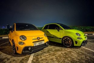 Rent Fiat Abarth 595 Convertible Yellow in Dubai
