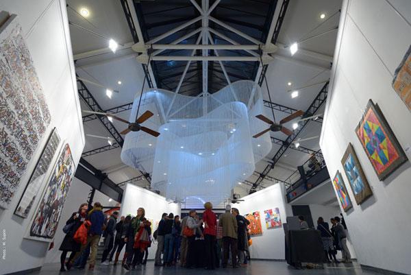 aurore boréale, exposition, suspension, no galerie, Pade design, atelier basfroi, paris