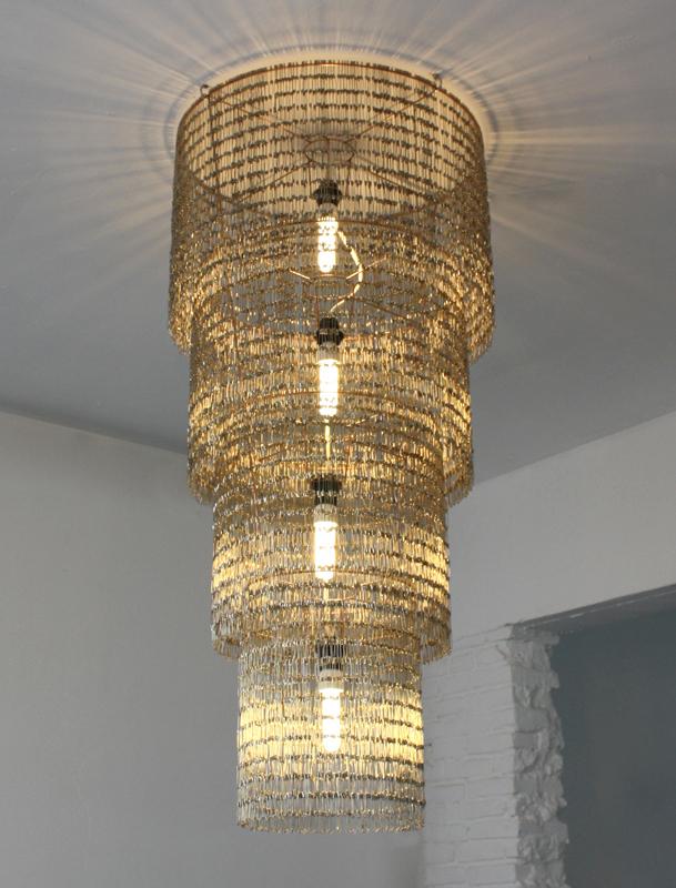 lustre, classique, cristal, luminaire, échelle, épingles, brillant, glitter, shine, pade design
