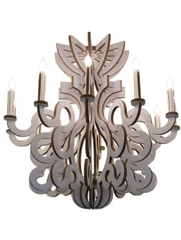 padedesign, luminaires, lustre, lampe, carton, polypropylene, rococo, cocorock, baroque