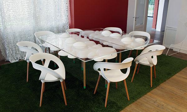 padedesign, mobilier, table, cloud, bureau, co-working, connecté, connected