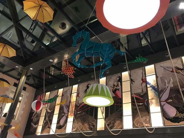 scénographie, mise en espace, visual merchandising, présentation, décor, décoration, visitation, centre commercial, cirque, fantastique, nemo, jules verne