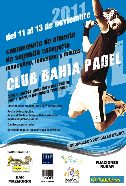 Belen Berbel torneo 2 Padelgood Belen Berbel organiza torneo en Club Bahía Pádel Almería