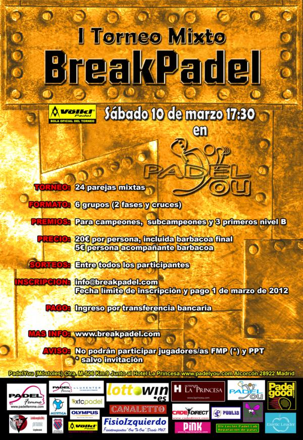 Inauguración BP 1er Torneo Breakpadel