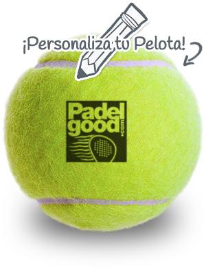 Bola personalizada Padelgood The green Tennis Machine. Recicla las Bolas de Padel y tenis