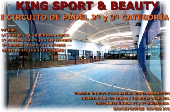 Torneo King Sport Aplazada la 1ª prueba del Circuito King Sport & Beauty