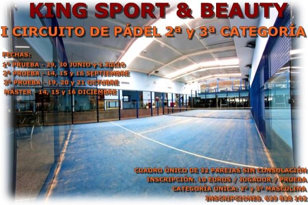 Torneo King Sport El Centro King Sport & Beauty anuncia I Circuito de padel