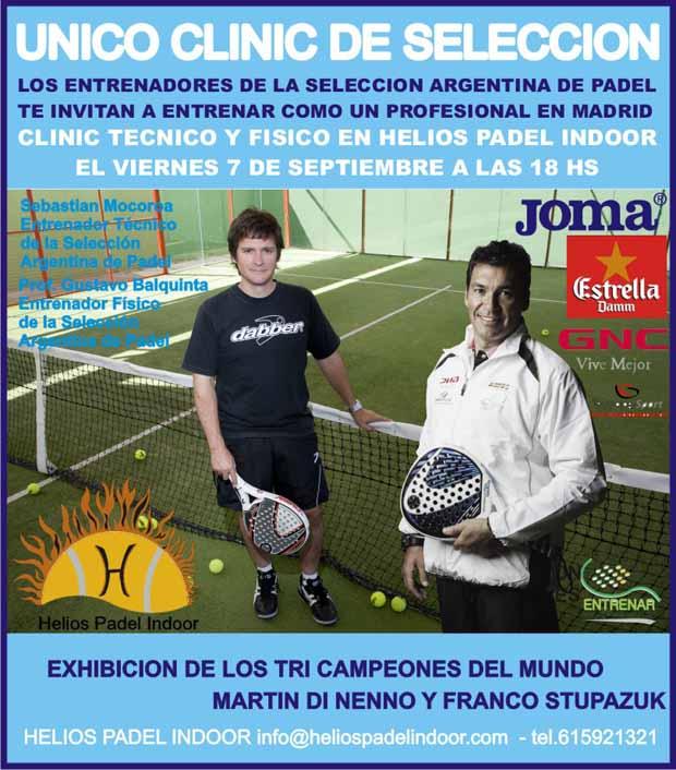 clinic en Parla Clinic técnico y físico de #padel de los seleccionadores argentinos. Madrid.