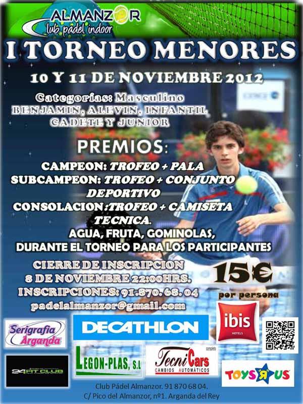 torneo menores cartel imagen 1 I Torneo de Menores. Almanzor Club Padel Indoor