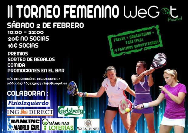 Cartel II Torneo Femenino WeGot