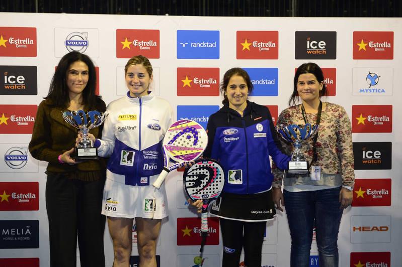 La campeonas Alejandra Salazar e Iciar Montes