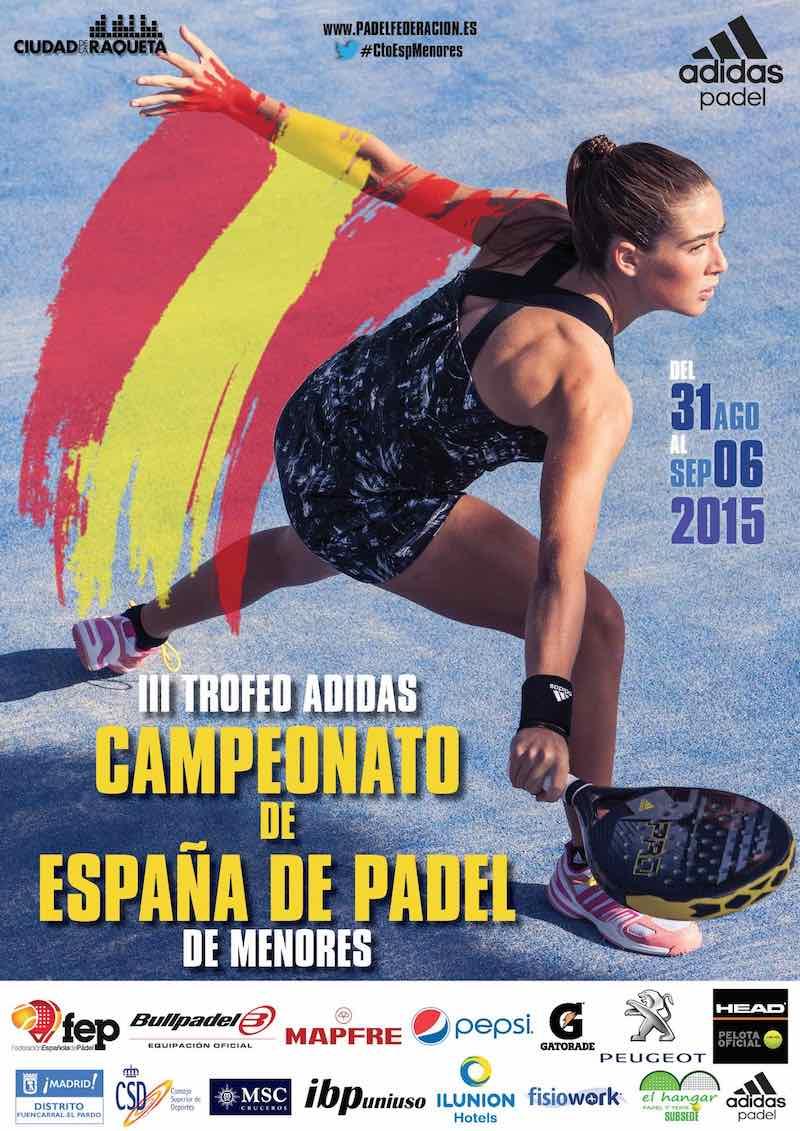 Cuadros y horarios Campeonato de España menores 2015
