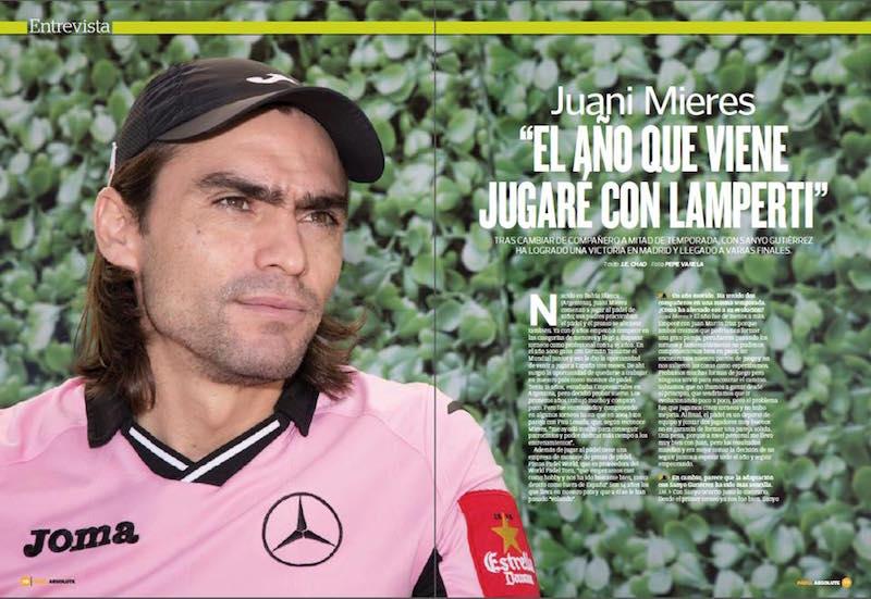 Juani Mieres jugara con Lamperti