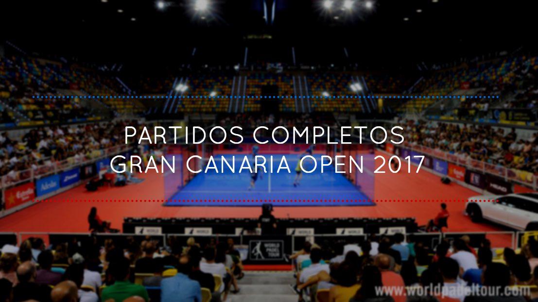 Partidos completos World Padel Tour Gran Canaria 2017