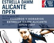 Cuadros y Horarios World Padel Tour Alicante 2017
