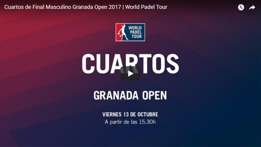 Cuartos directo WPT Granada 2017 Resultados cuartos de final World Padel Tour Granada 2017