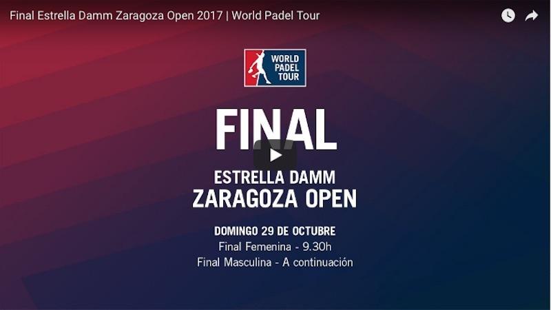 En directo y online finales WPT Zaragoza 2017 Bela - Lima y Sainz - Triay vencedores del World Padel Tour Zaragoza 2017