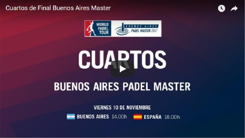 Cuartos de final en directo y online Máster World Padel Tour Buenos Aires 2017