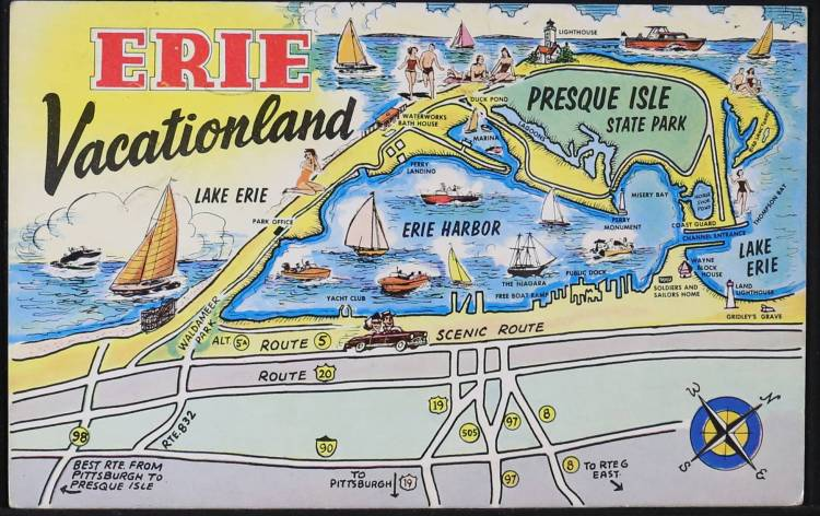 Postcard from Erie, Pennsylvania