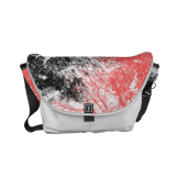 Abstract branches black orange messenger bag
