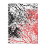 Abstract branches black orange notebook
