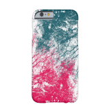 Abstract branches pink green iPhone case