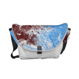 Abstract tree branches burgundy blue messenger bag