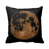 Don't tell me the moon is shining throw pillow