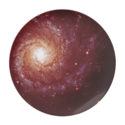 Messier 74 galaxy red tints plate