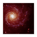 Messier 74 galaxy red tints poster