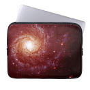 Messier 74 galaxy red tints laptops sleeve