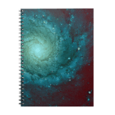Galaxy photograph red green tints notebook