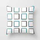 Impossible squares pattern pillow
