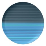 abstract horizontal lines design in blue plate