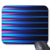 Abstract neon tones horizontal lines mousepad