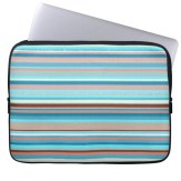 Abstract design horizontal lines in pastel colors laptop sleeve