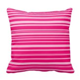 Hot and pale pink throw pillow