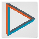 Impossible objects - Triangle - Poster over white