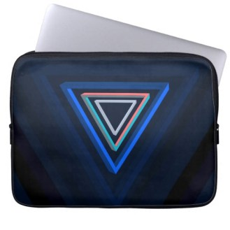 Nested impossible triangle laptop sleeve