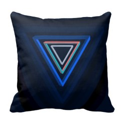 Nested impossible triangle pillow