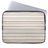 Abstract design horizontal lines in golden tones laptop sleeve