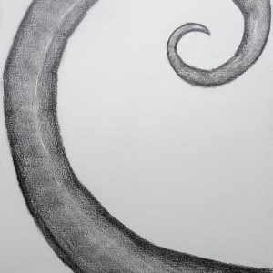 Natural Spiral No.1 Pencil Drawing on Paper (Base on Fibonacci Spiral)